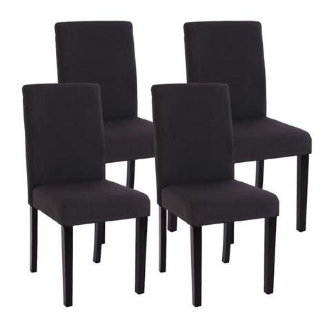 chaise de salle lot de 4 chaises de salle a manger tissu noir achat
