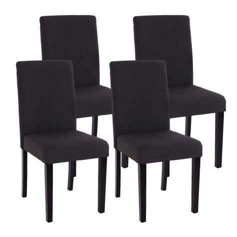 chaise salle a manger noir lot de 4 chaises de salle a manger tissu noir achat