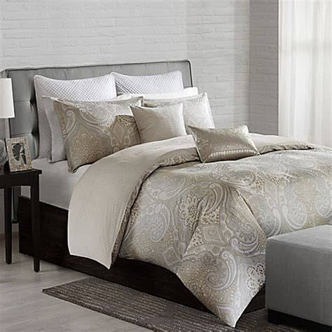Neutral Bed Covers by Echo Design Juneau Duvet Cover In Neutral Bed Bath Beyond