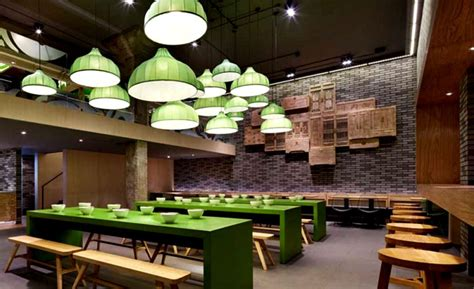 modern wooden dining chairs minimalistic restaurant with fresh green elements
