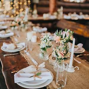 Décoration Mariage Champêtre Chic : d corer une table de mariage nos astuces blog but ~ Melissatoandfro.com Idées de Décoration