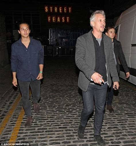 Gary Lineker enjoys night out with his sons Harry, Tobias ...