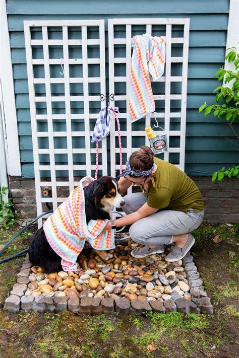 diy outdoor dog shower hgtv