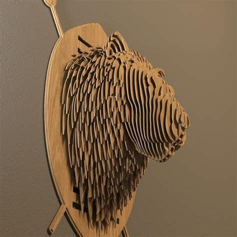 lion head  model  printable obj dxf dm dwg cgtradercom