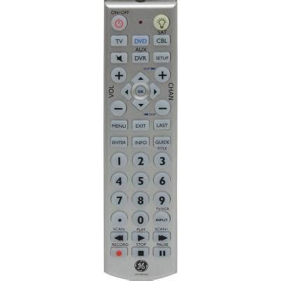 ge universal remote with led backlight 4 24929