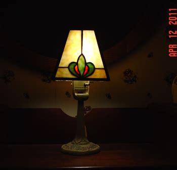 electric aladdin lamp   slag glass shadefrom