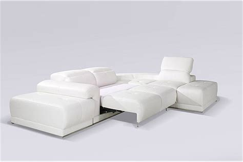 canapé d 39 angle blanc benley convertible canapés d