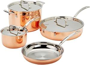 amazoncom cuisinart copper tri ply stainless steel