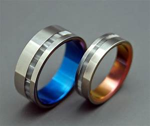 wedding ring mens ring womens ring titanium ring With portal wedding rings
