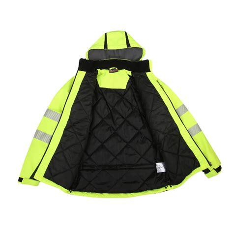 Augstas redzamības ziemas jaka Calgary, dzeltena XL - Hi-vis ziemas jakas