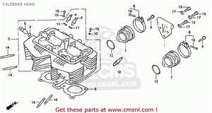 Honda Cb400n 1978 France Cylinder Head