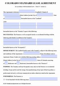 Free colorado residential lease agreement template pdf for Colorado lease agreement word document