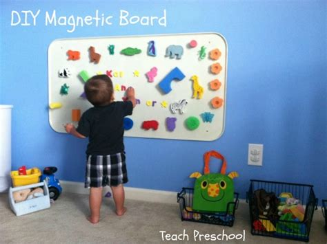 teaching magnets to preschoolers diy magnetic board teach preschool 450