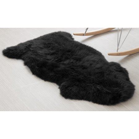 black fur rug area rugs genuine australian sheepskin black fur