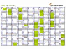 Ferien Thüringen 2015 Ferienkalender zum Ausdrucken