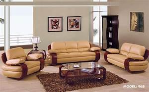 Gf965tenlrset 2 pcs tan leather living room set sofa and for Leather sofa sets for living room