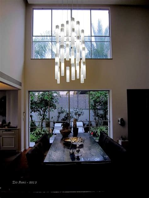 modern chandeliers for high ceilings galilee lighting quot white candles quot modern pendant lights