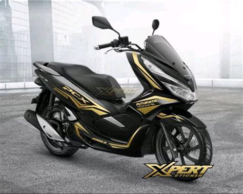 Pcx 2018 Lokal Hitam by Jual Cutting Sticker Gold Honda Pcx 150 Hitam 02 Di Lapak