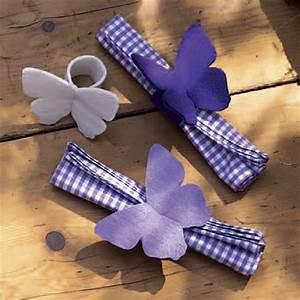 Schmetterlinge Basteln Zum Aufhängen : serviettenringe mit filzschmetterling schmetterlinge ~ Watch28wear.com Haus und Dekorationen