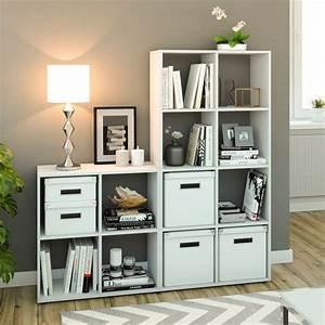 Regal Weiß 4 Fächer : raumteiler 4 f cher wei 70 x 70 cm regal b real ~ Bigdaddyawards.com Haus und Dekorationen