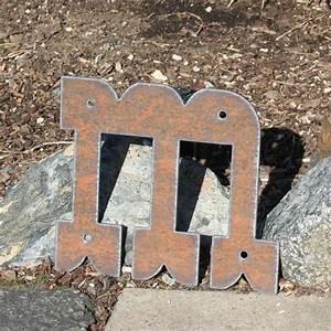 custom metal letters western rustic steel numbers symbols 8 With rustic steel letters