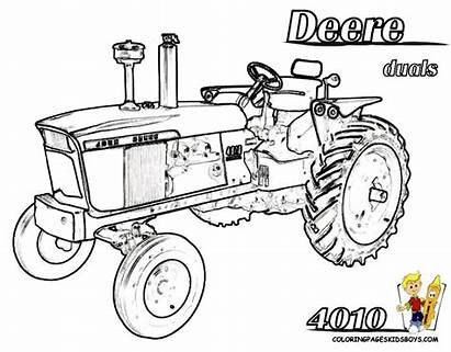 Coloring Pages Deere John Farm Tractor Printable