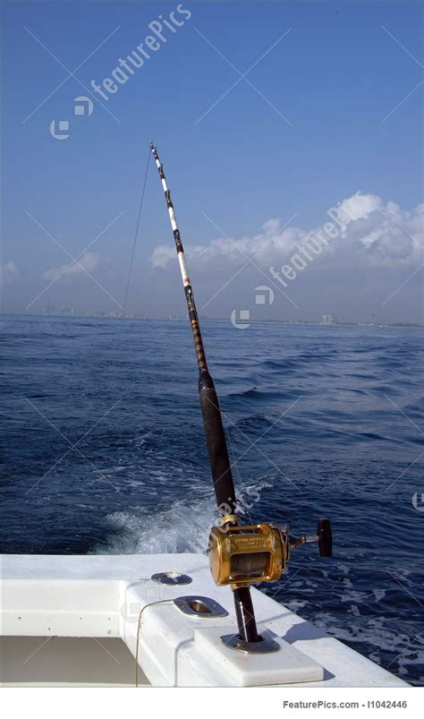 deep sea fishing rod  reel photo