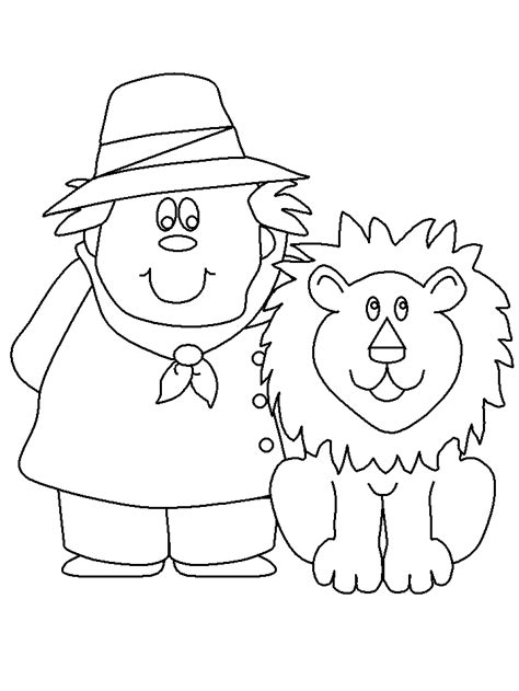 Coloring Picture For Kid by Zookeeper Coloring Pages Coloring Page Book For