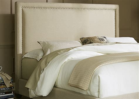 Natural Linen Panel Upholstered Bed