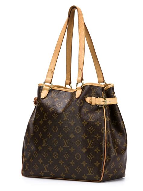 lyst louis vuitton batignolles bag  brown