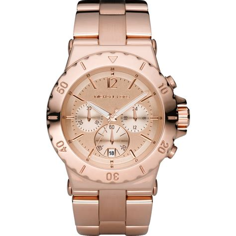 Michael Kors MK5314 Women's Rose Gold Chronograph Watch ...