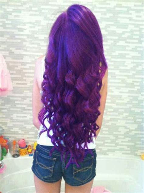 Cute Purple Hair Your Smile Your Style So Fly