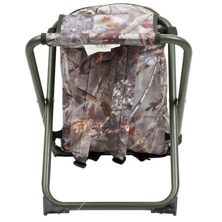 chaise chasse sac  dos camouflage marron