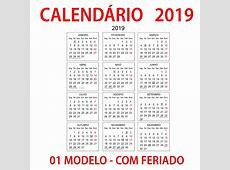 Calendário 2019 Produto Digital R$ 25,00 em Mercado Livre