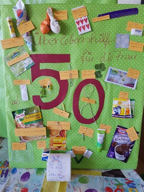 Geschenk Für 50 by Pin Sabrina Motzel Auf Geschenke Geburtstag Geschenk
