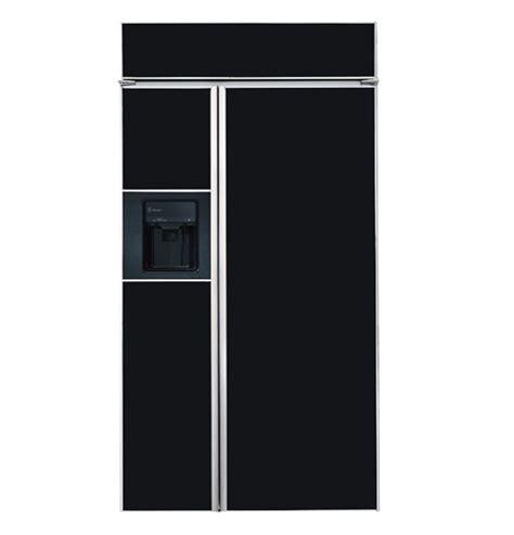 zisbdc ge monogram  built  side  side refrigerator  black dispenser