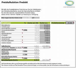 Lohnsteuerjahresausgleich Online Berechnen Kostenlos : preiskalkulation so berechnen sie ihren verkaufspreis excel ~ Themetempest.com Abrechnung