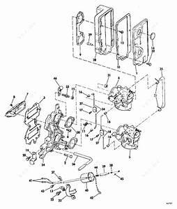 Evinrude 1974 50 - 50442m  Intake Manifold