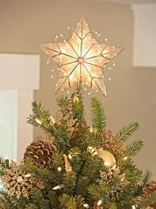 Christmas Tree Star Topper - Capiz Star - Christmas Tree