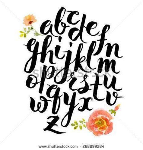 brush lettering alphabet watercolors brush lettering and on 22082