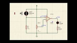 Ldr Sensor Using Opamp