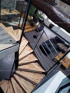 Escalier Industriel Occasion : escalier industro en m tal et bois et garde corps droit en verre plein art escaliers ~ Medecine-chirurgie-esthetiques.com Avis de Voitures
