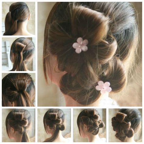 how can make hair style diy chic flower petal updo hairstyle home diy