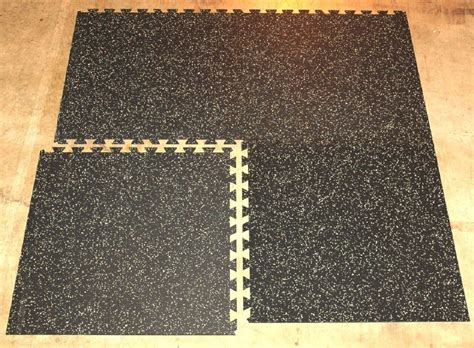 confetti colored recycled rubber flooring
