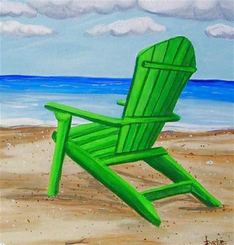 adirondack chairs painting set