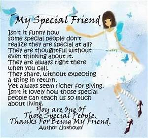 My Special Friend | Quotes and poems I like | Pinterest