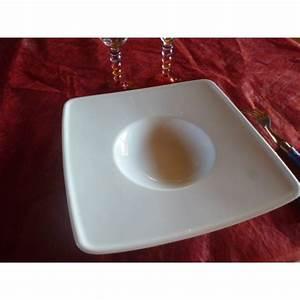 Assiette A Risotto : assiette carr a degustation risotto en porcelaine ~ Teatrodelosmanantiales.com Idées de Décoration