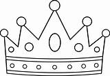 Crown Coloring Royal Clip Outline Line Sweetclipart sketch template