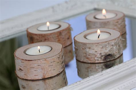 birch candle holders set of 15 birch candle holders log candle holders tea light