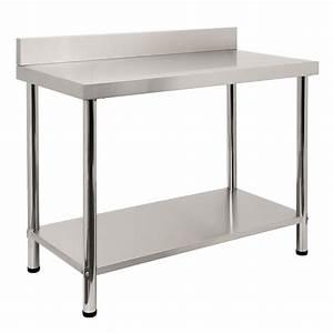 Tisch 120 X 60 : edelstahl tisch arbeitstisch edelstahltisch 120 x 60 x 85 cm mit aufkantung 4260120776988 ebay ~ Bigdaddyawards.com Haus und Dekorationen